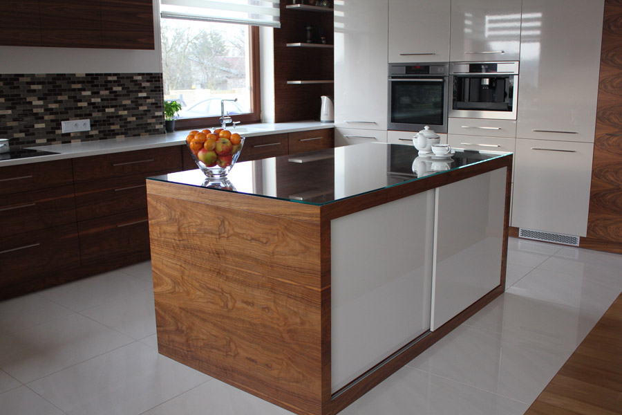 Decoration  Producent Drzwi i Mebli  meble kuchenne -> Kuchnia Orzech Polysk
